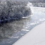 厳冬の天塩川