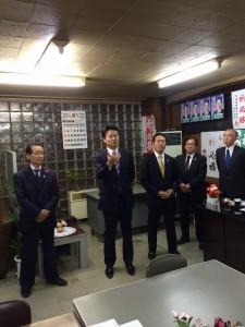 玄葉衆議来訪:西川事務所