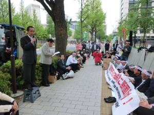 20150424.TPP阻止議員会館前座り込み